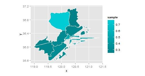 r ggplot2 绘制地图 - r中国用户组-炼数成金-data