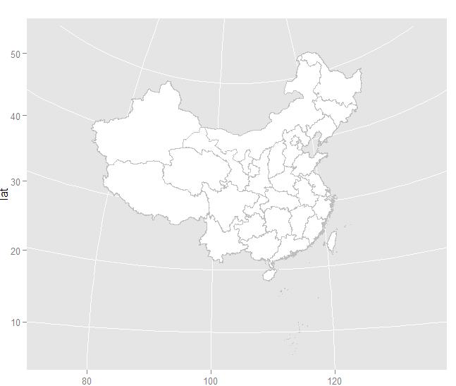 用r语言画中国地图