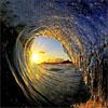 海浪摄影师:展现海浪内部完美景象
