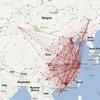 国内航线信息的可视化